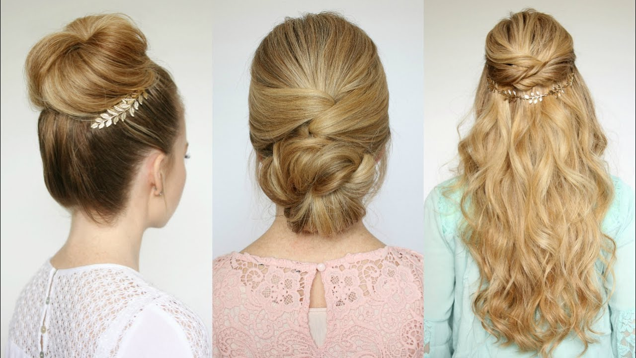Great 3 Easy Prom Hairstyles | Missy Sue   YouTube