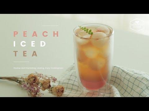 리얼! 복숭아 아이스티 만들기 : REAL! Peach Iced Tea Recipe - Cooking Tree 쿠킹트리*Cooking ASMR