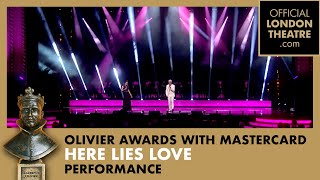 Here Lies Love performs at the Olivier Awards 2015 with MasterCard