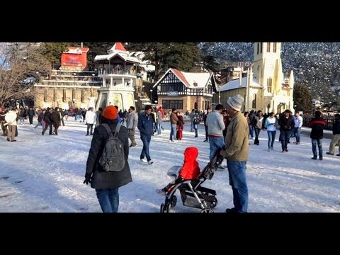 THE RIDGE-SHIMLA- AFTER THE SNOWFALL-AMAZING VIDEO.