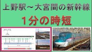 上野駅~大宮間の新幹線が1分の時短することの意味を探る