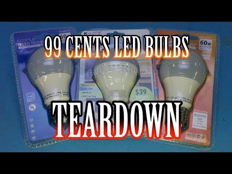 TWB #50   99 Cents Only Stores LED Bulbs Teardown