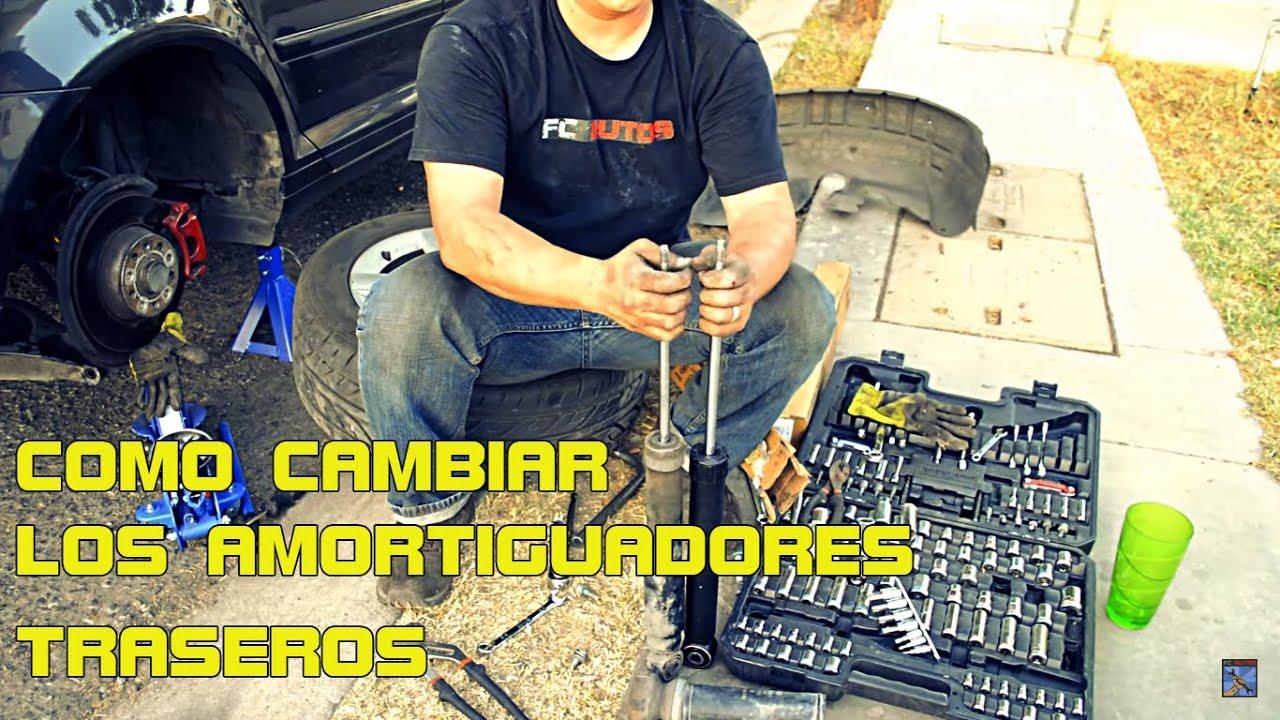 2016 Dodge Journey >> COMO CAMBIAR LOS AMORTIGUADORES TRASEROS - YouTube