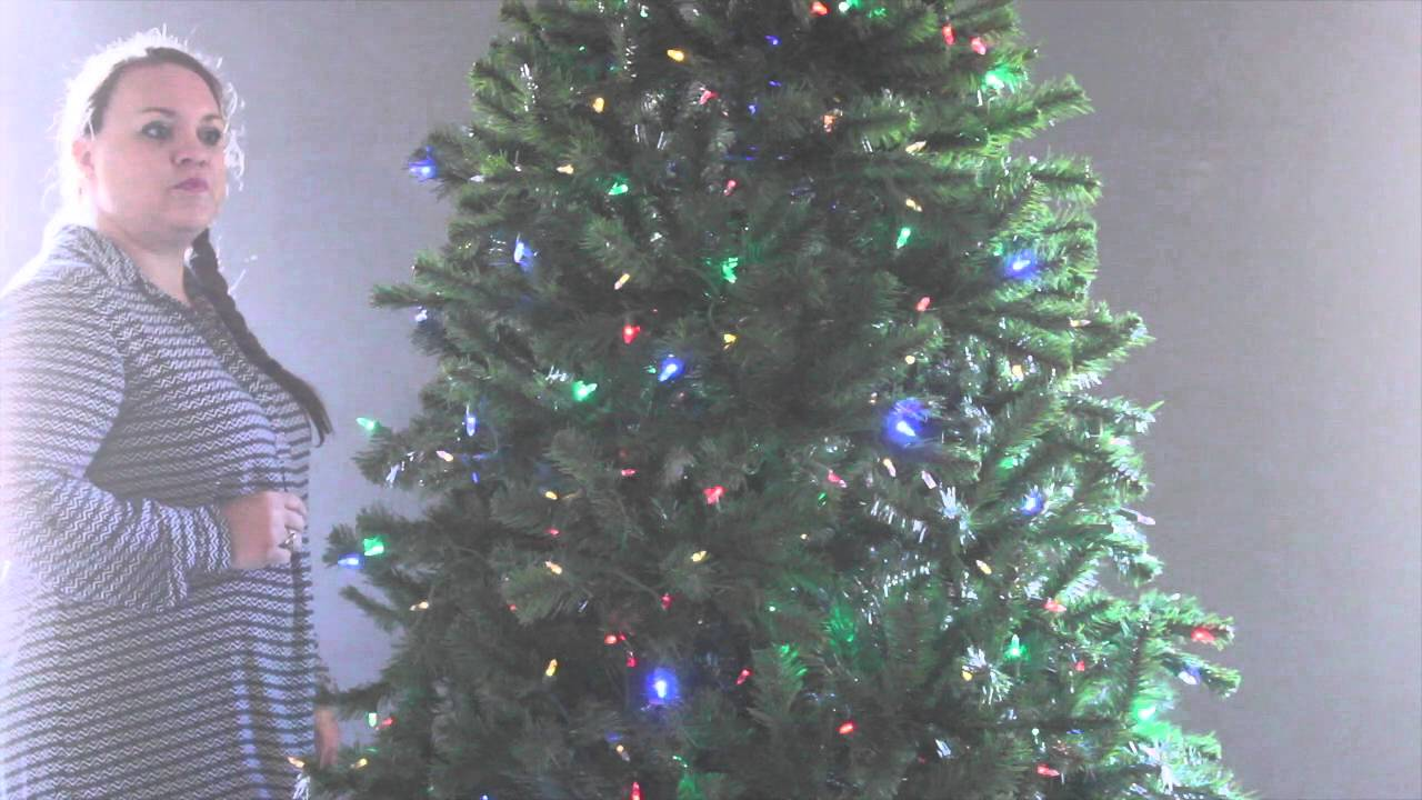 Artificial Christmas Tree with Color Changing LED Lights - YouTube 5ecb7eed4254