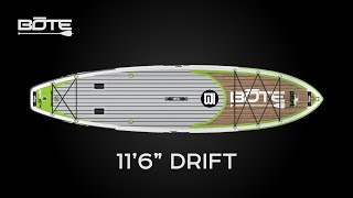 BOTE 2016 Drift Inflatable Fishing Paddle Board