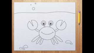 How to draw a crab | aprender a dibujar langosta
