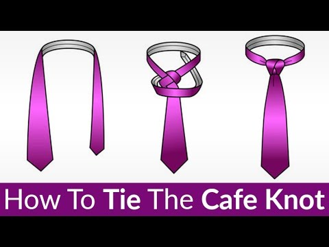 How to tie the cafe knot tying a tie tutorial click here to watch the video on youtube how to tie this unique knot ccuart Image collections