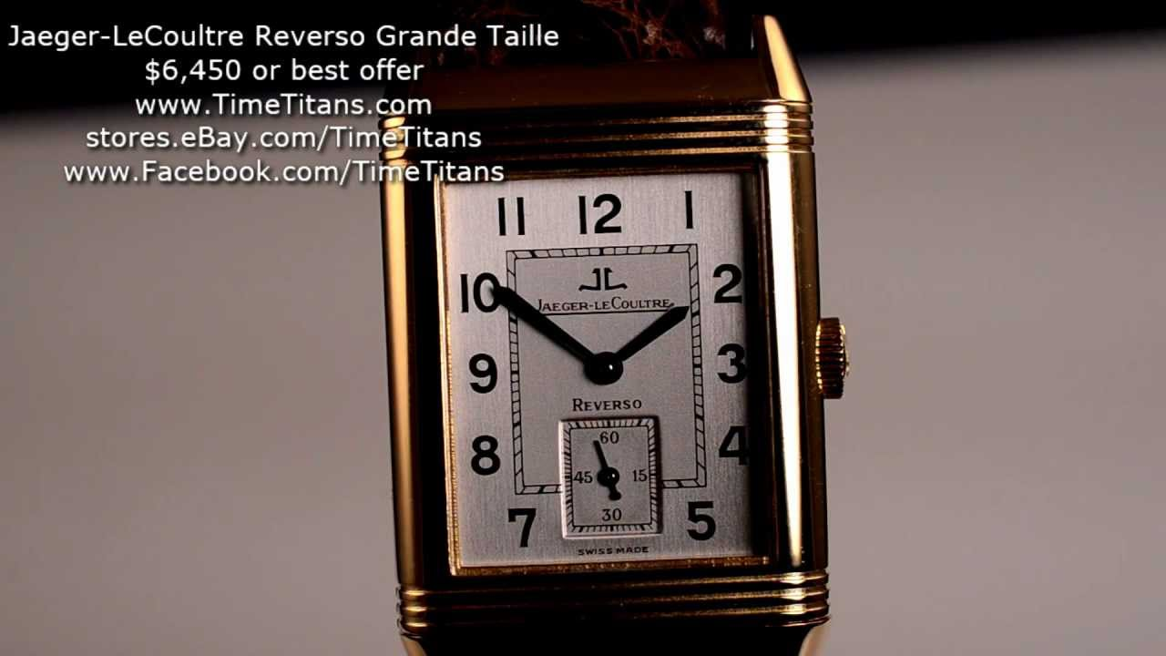 Jaeger lecoultre reverso grande taille 18k yellow gold 270 - Jardiniere grande taille ...