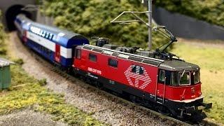 """FLEISCHMANN SBB Re420 """"LION"""" Spur N , lief im """"Hobby Center KATO"""""""