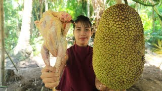 Yummy cooking chicken with Jack fruit recipe  Cooking skill
