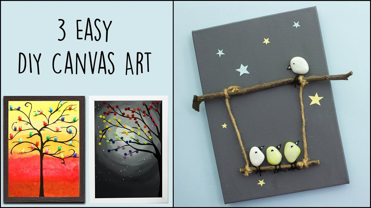 3 Easy Diy Canvas Art Home Decor