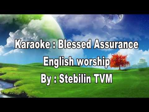 Blessed Assurance karaoke english worship song