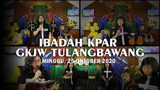 Ibadah KPAR | GKJW Jemaat Tulangbawang - 25 Oktober 2020