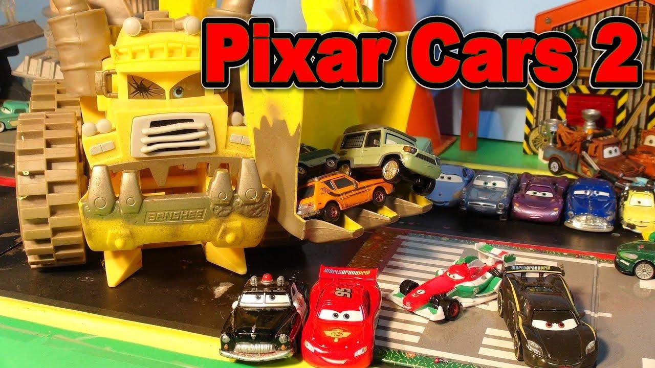 disney pixar cars 2 world grand prix race screaming