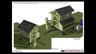 T200 - Chicken Tractor Plans - Chicken Trailer Plans Construction