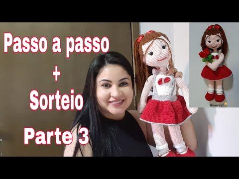 AMIGURUMI BONECA DUDA VÍDEO 05 - YouTube | Bonecas, Bonecas de ... | 360x480