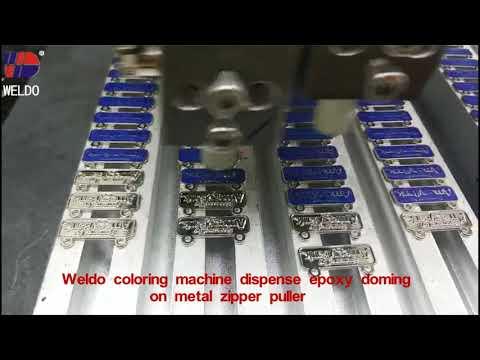 Weldo machine make epoxy doming zipper puller Weldo Video 68