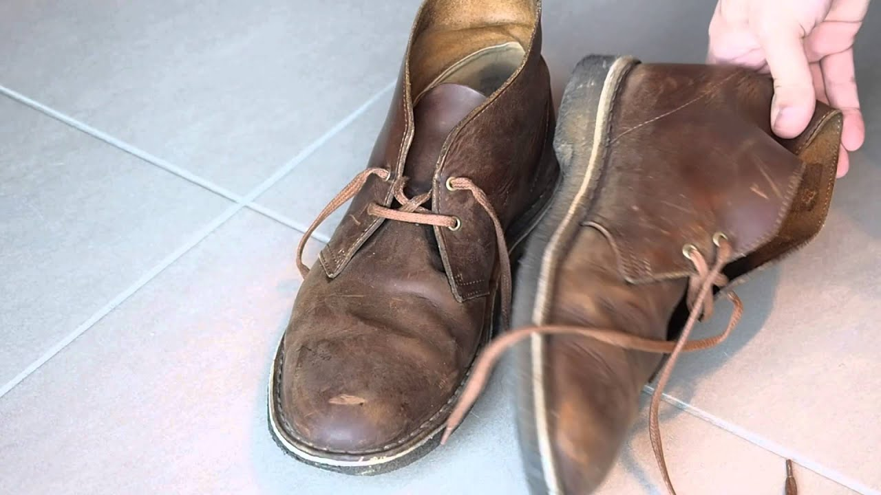 Clarks Desert Boots Beeswax Shoe Review - 2 Years later - YouTube