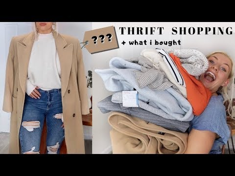 FALL THRIFT SHOPPING W ME + WHAT I BOUGHT TRY ON HAUL