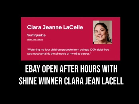 Ebay Open 2019 After hours discussion with Clara Jeanne LaCelle ebay shine winner