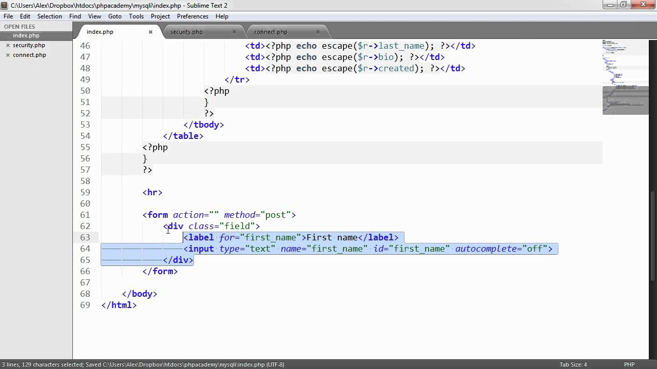 how to begin html code