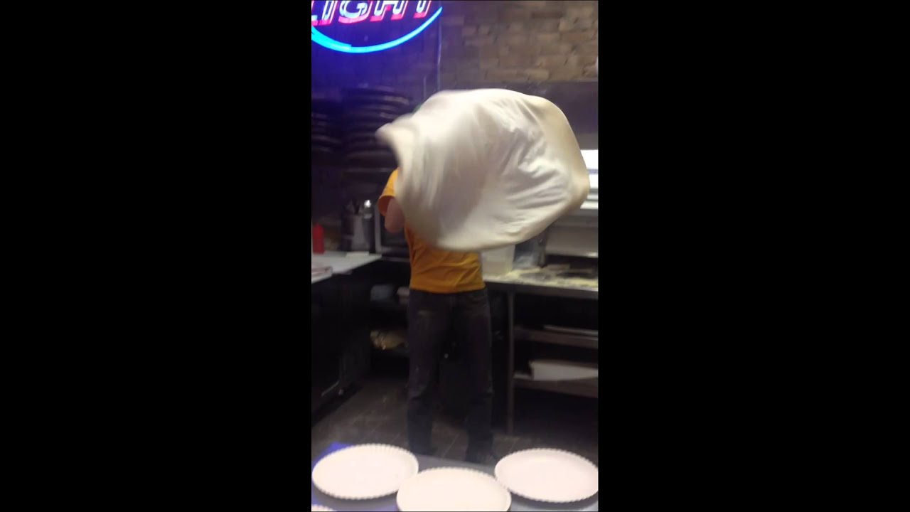 Tossing Giant Pizza Dough