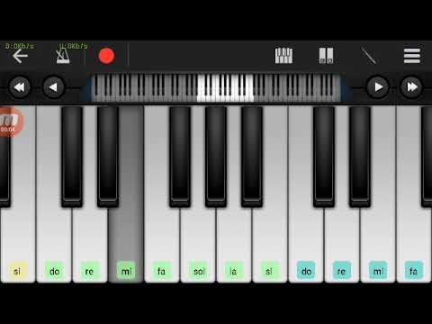 Kolaborasi Not Piano - Antar Aku, kau & Batu Akin dengan Tomat Wali band ( Tutorial Piano )