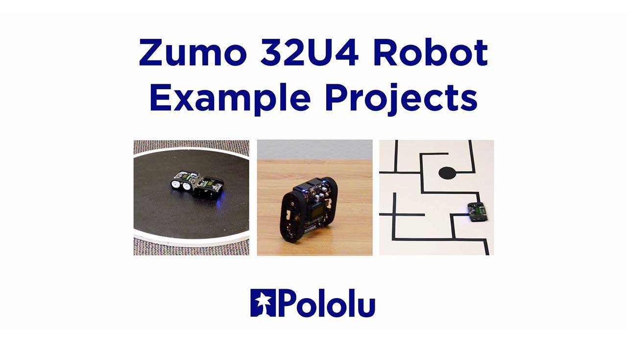 Pololu Zumo 32U4 Robot Example Projects