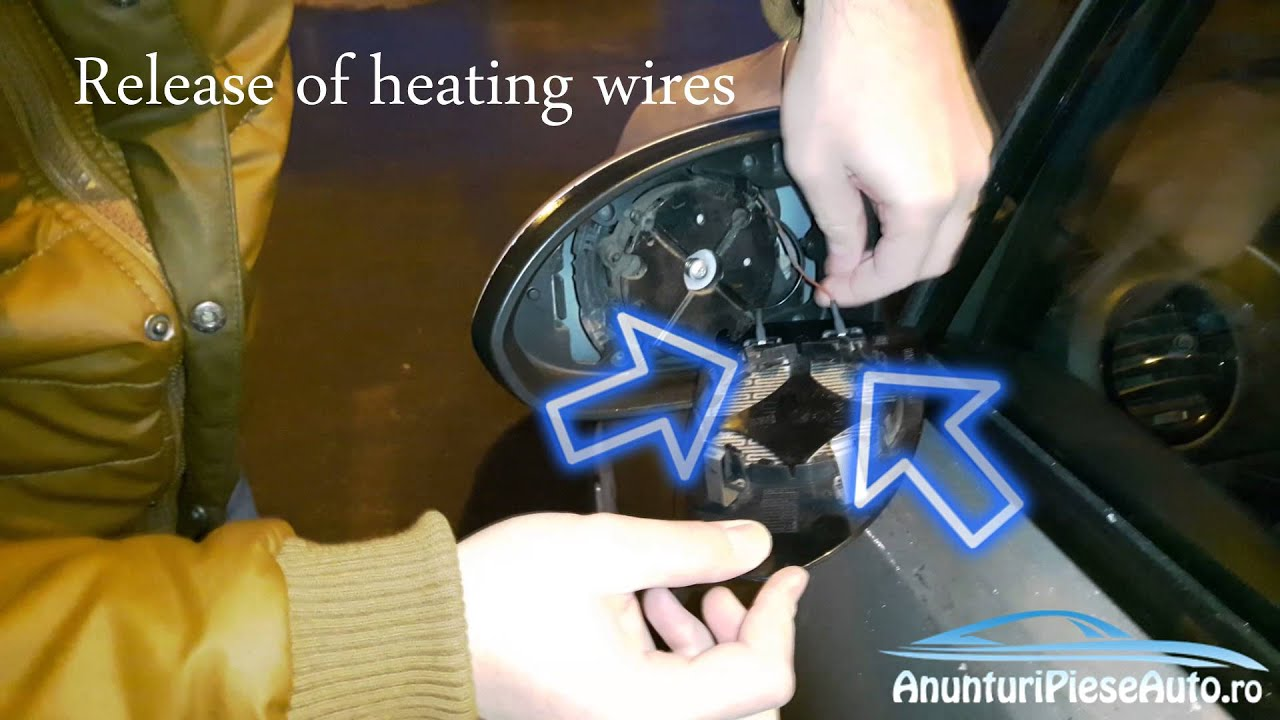 How to remove Vauxhall Corsa D wing mirror heated glass & How to remove Vauxhall Corsa D wing mirror heated glass - YouTube