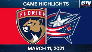 NHL Game Highlights   Panthers vs. Blue Jackets - Mar. 11, 2021
