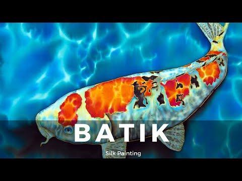 BATIK CREATING FINE ART ON SILK - JEAN-BAPTISTE - KOI FISH