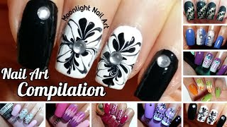 Easy Nail Ideas - Drag Dry Marble Compilation