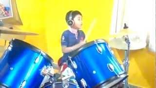 bhag bhag dk bose drum cover by 7 yrs old kid amogh bhatt