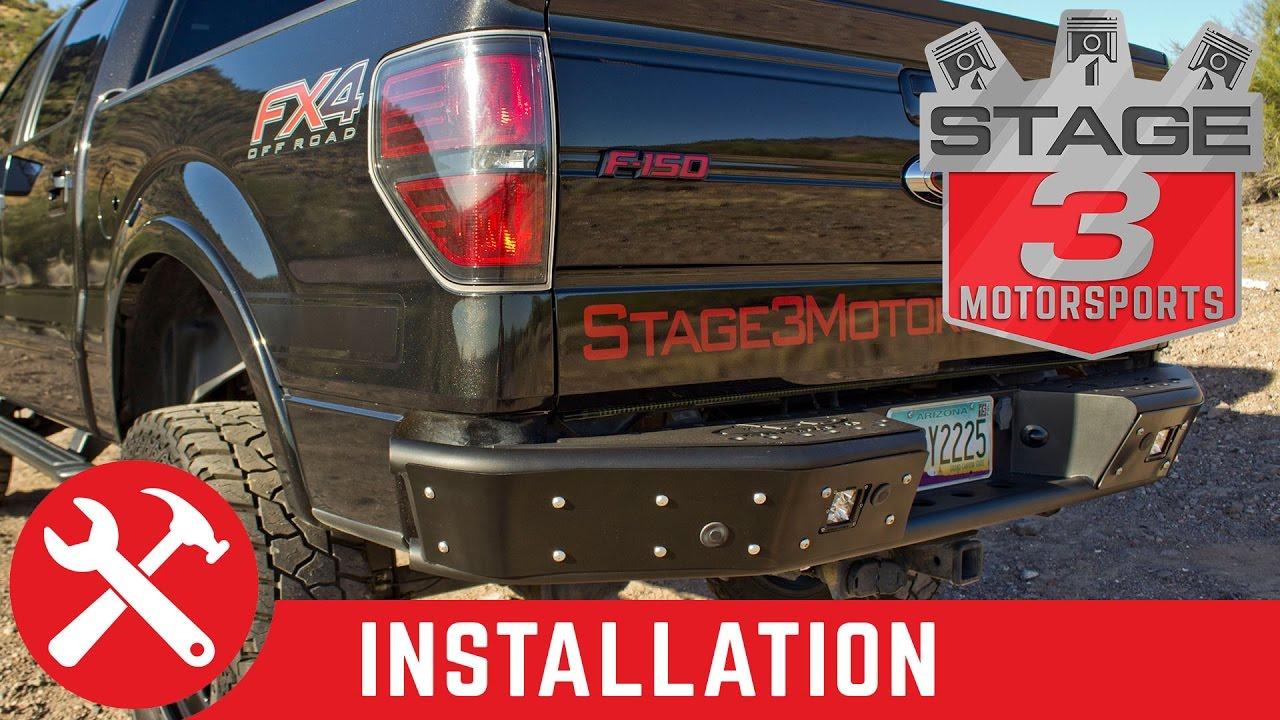 medium resolution of 2009 2014 f 150 and raptor add stealth rear off road bumper install