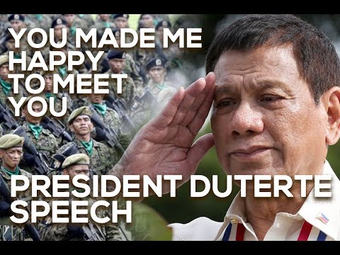YOU MADE ME HAPPY—President Rody Duterte talks to the officers and members of the 602nd Brigade