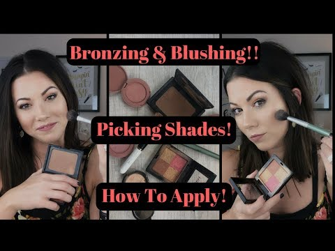 Wearing Bronzer and Blush Together - Picking Shades, How to Apply