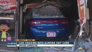 Car crashes into Aurora day care center