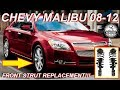 Chevy Malibu Strut Replacement 2008-2012 How To Replace & Install Front Shocks & Springs End Links