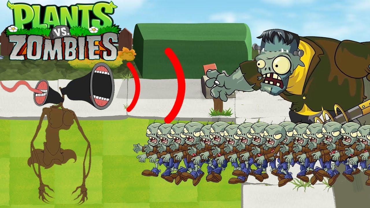 Plants Vs Zombies GW Animation Episode 73 : Siren Head vs Frankenstein Gargantuar Zombies