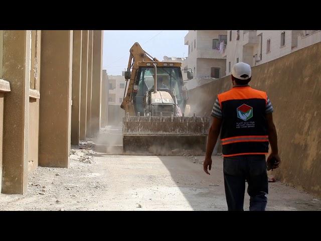 استمرار العمل بترميم مدرسة امام وخطيب في مدينة عفرين _ هيئة_ساعد_الخيرية