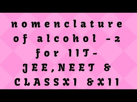 #Nomenclature Of Alcohol|class12|NEET|IIT -JEE|MAINS|ADVANCED|By Manual Chemistry|in Hindi|IUPAC 😊☺