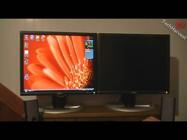 Setting Up Dual Monitors On One Desktop Pc Youtube