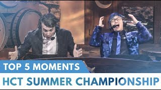 Top 5 Moments | HCT Summer Championship 2018 | Hearthstone | [Witchwood]