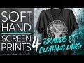 Soft Hand Screen Prints for Brands and Clothing Lines
