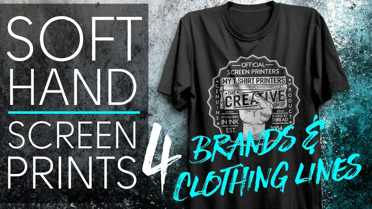 f44e61b96 Soft Hand Screen Prints for Brands and Clothing Lines - YouTube