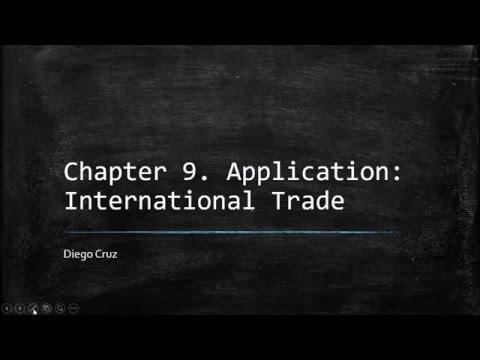 Chapter 9 Application International Trade Principle Of