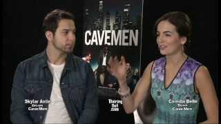 Skylar Astin & Camilla Belle talk w Eric Blair about the movie Cavemen