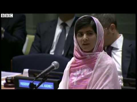 Shot Pakistan schoolgirl Malala Yousafzai addresses UN