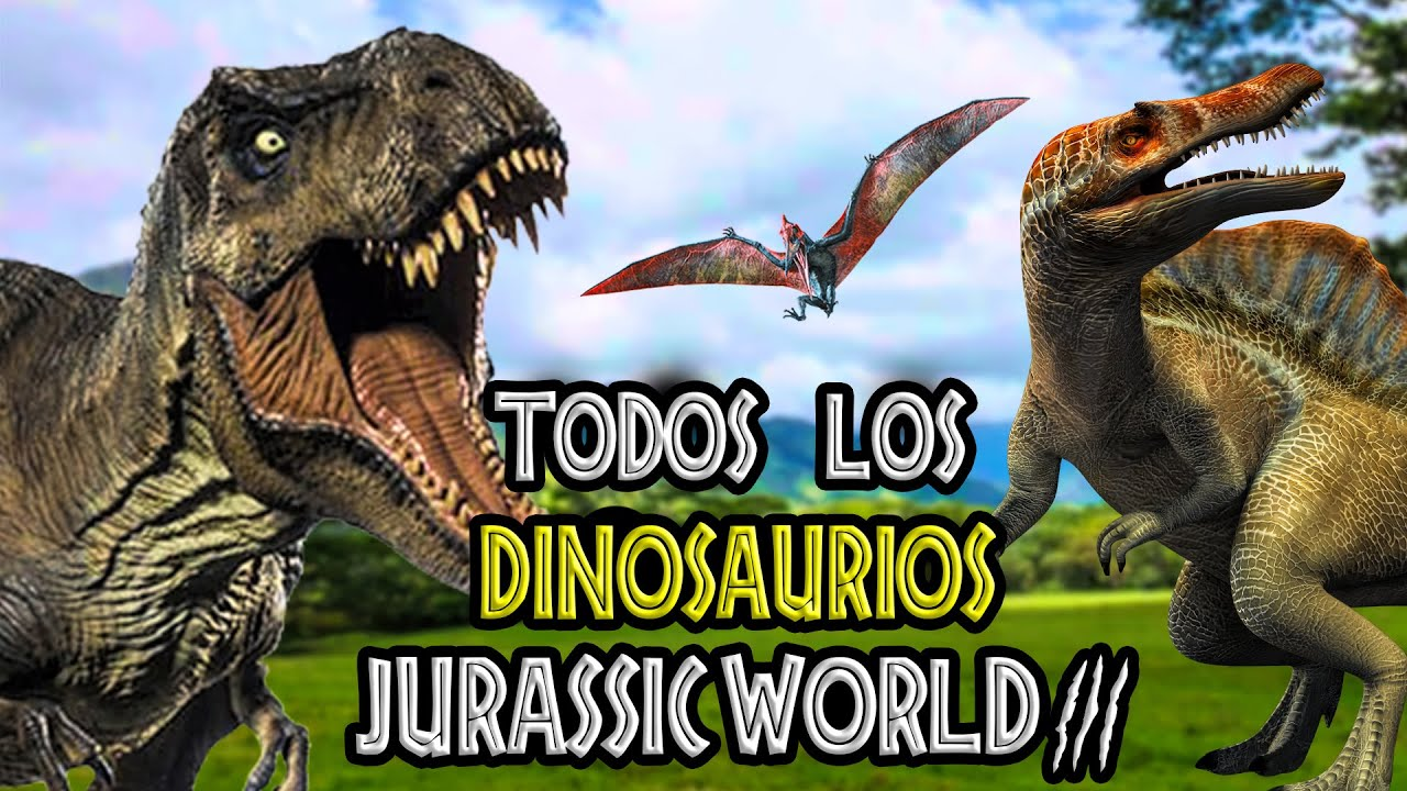 Todos Los Dinosaurios De Jurassic World 3 Youtube Indominus rex vs gyro sphere pack de jurassic world. todos los dinosaurios de jurassic world 3