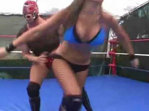 mixed wrestling woman vs man wrestling